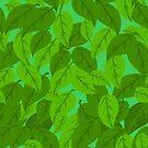 Green Leaves seamless by elangkarosingo