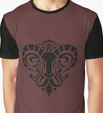 Zodiac Sign Aries Black Graphic T-Shirt