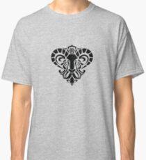 Zodiac Sign Aries Black Classic T-Shirt