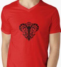 Zodiac Sign Aries Black Men's V-Neck T-Shirt
