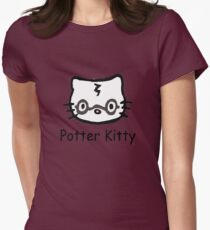 Potter Kitty Womens Fitted T-Shirt