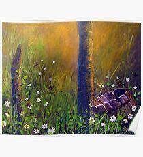 Field of butterflies Poster