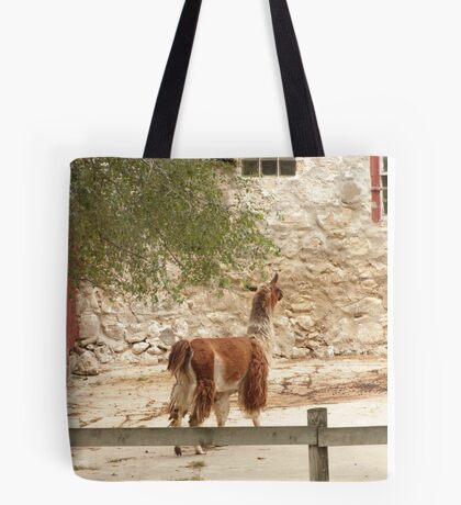 Llama in Courtyard Tote Bag