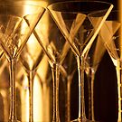 Golden Stemware by phil decocco