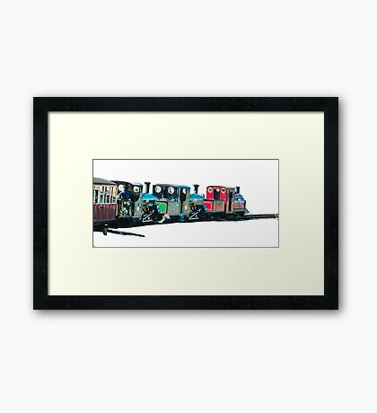 The Snowdonian by whacky Framed Print