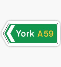 York, Road Sign, UK  Sticker
