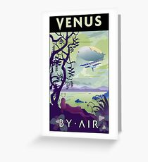 Venus By Air Travel Poster Greeting Card