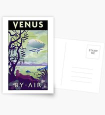 Venus By Air Travel Poster Postcards