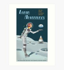 Moon Travel Poster Art Print