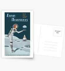 Moon Travel Poster Postcards