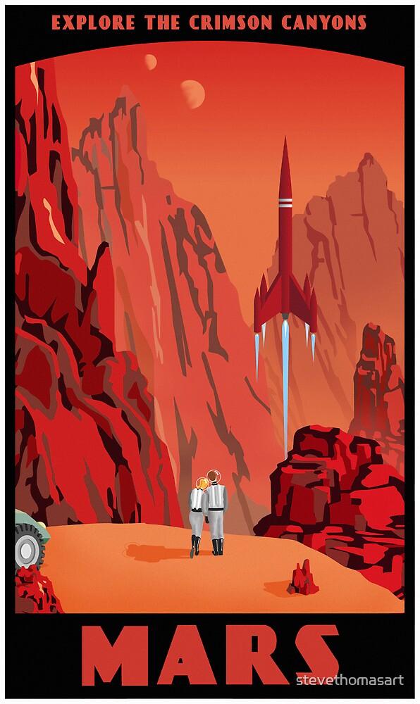 Mars Travel Poster by stevethomasart
