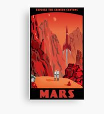 Mars Travel Poster Canvas Print