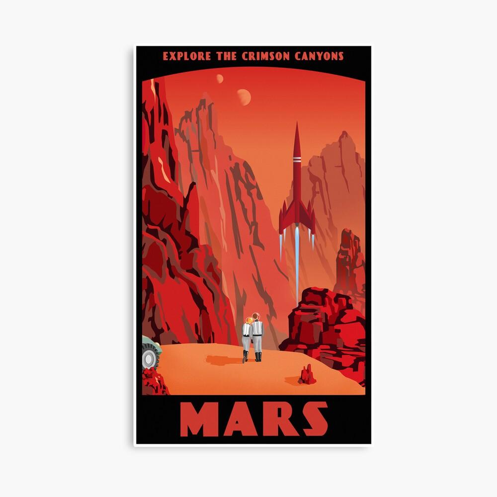 Mars Travel Poster Canvas Print