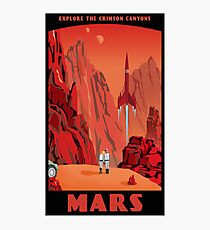 Mars Travel Poster Photographic Print