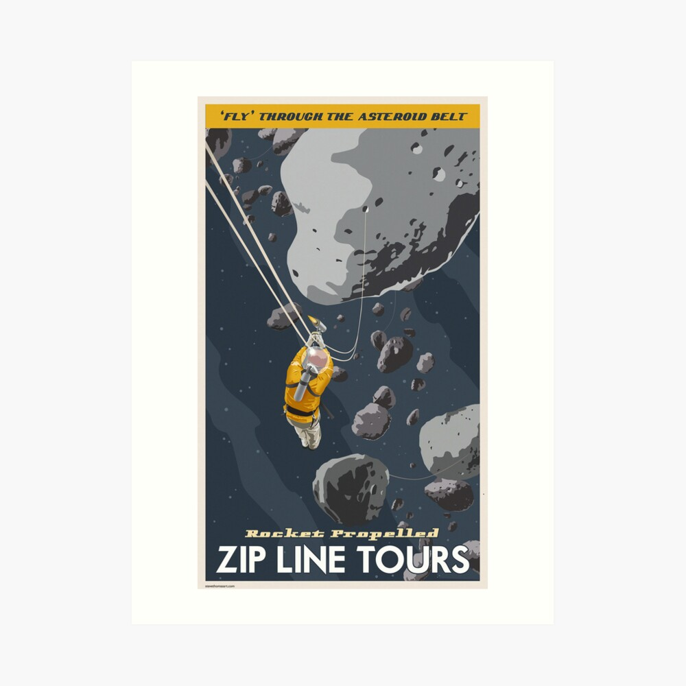 Asteroids Travel Poster Art Print