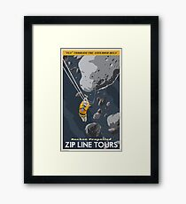 Asteroids Travel Poster Framed Print