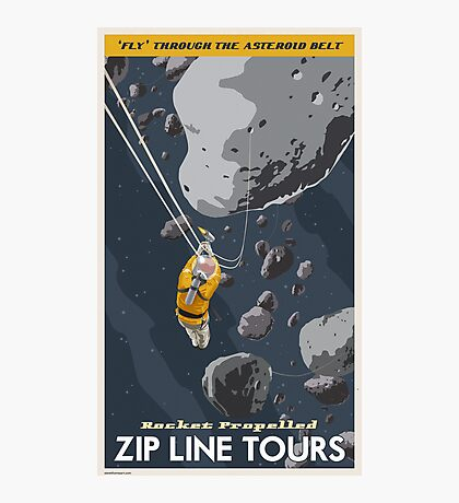 Asteroids Travel Poster Photographic Print