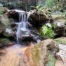 Mermaid Cave waterfall by William Goschnick