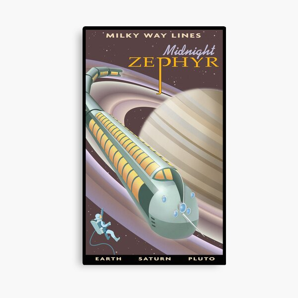 Saturn Travel Poster Canvas Print