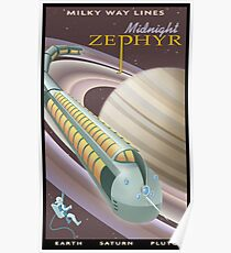 Saturn Travel Poster Poster