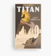 Titan Travel Poster Metal Print