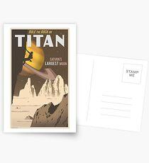 Titan Travel Poster Postcards