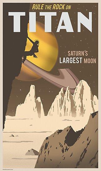 «Cartel de viaje de Titán» de stevethomasart