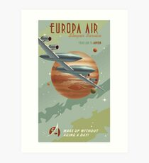 Jupiter Travel Poster Art Print