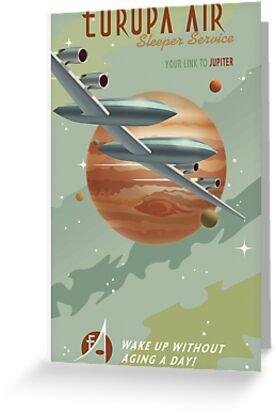 Jupiter Travel Poster by stevethomasart