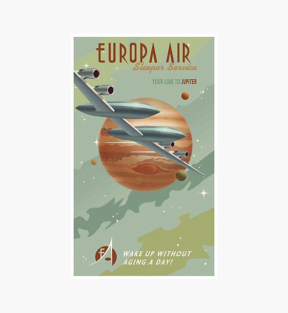 Jupiter Travel Poster von stevethomasart
