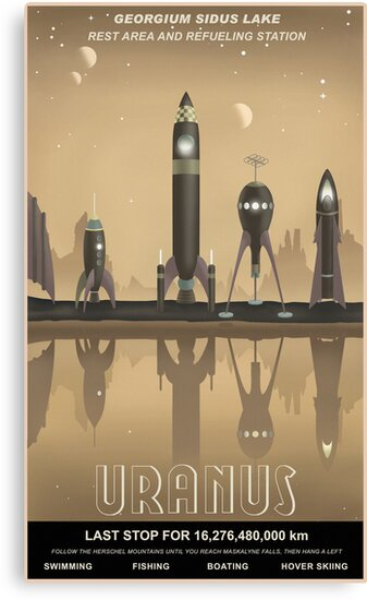 Uranus Travel Poster by stevethomasart