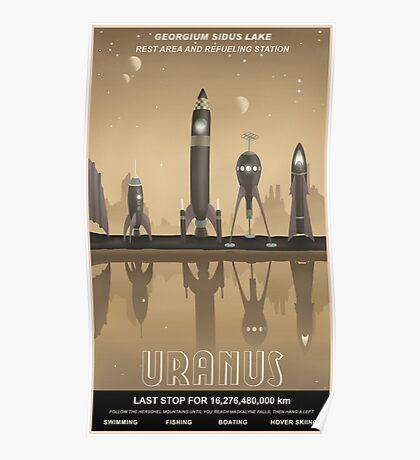 Uranus Travel Poster Poster