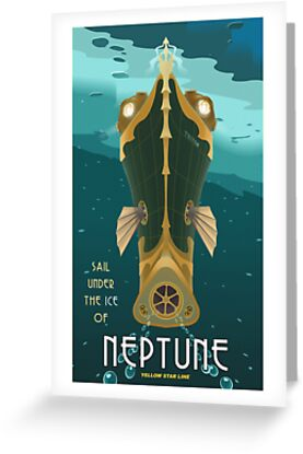 Neptune Travel Poster by stevethomasart