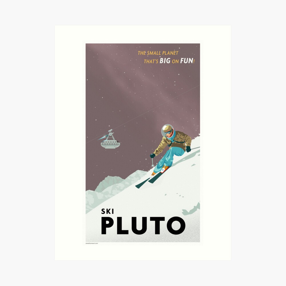 Pluto Travel Poster Art Print