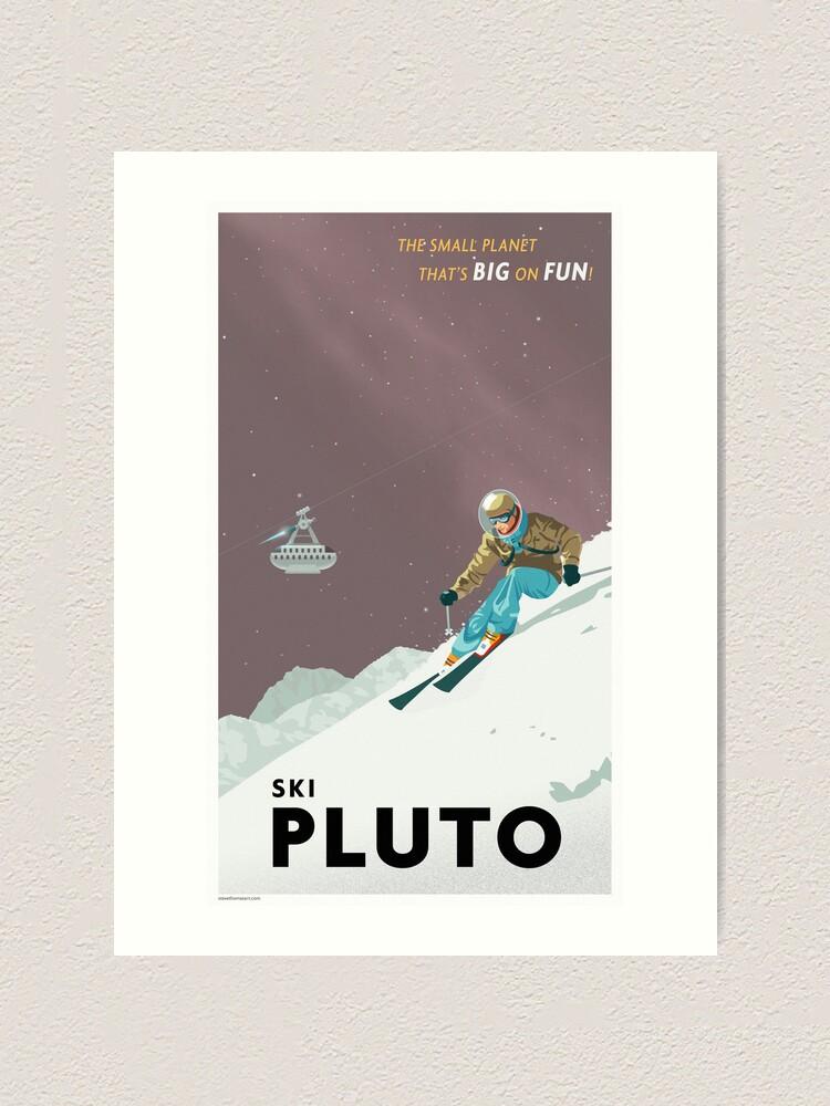 Alternate view of Pluto Travel Poster Art Print