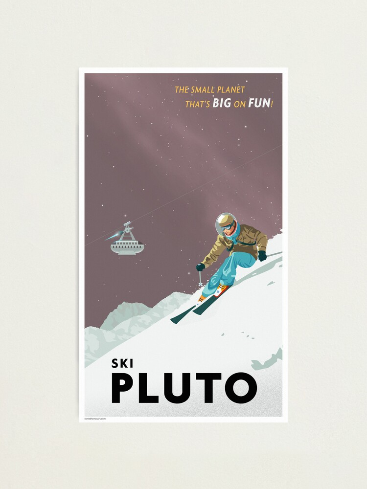 Alternate view of Pluto Travel Poster Photographic Print