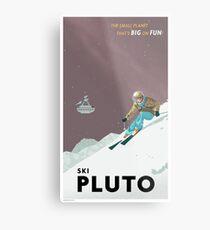 Pluto Travel Poster Metallbild
