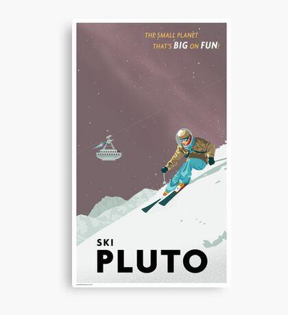 Pluto Travel Poster Canvas Print