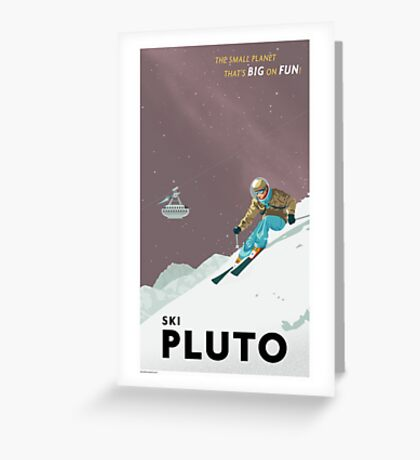 Pluto Travel Poster Greeting Card
