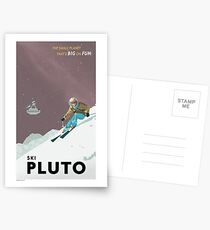 Pluto Travel Poster Postcards