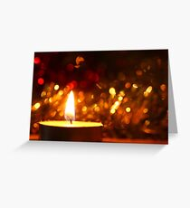Candle Sparkle Greeting Card