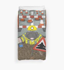 Roadwork Mole Duvet Cover
