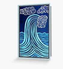 High Wave Greeting Card Greeting Card