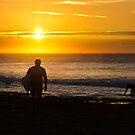 Early Wave Rider - Bells Beach by Mick Kupresanin