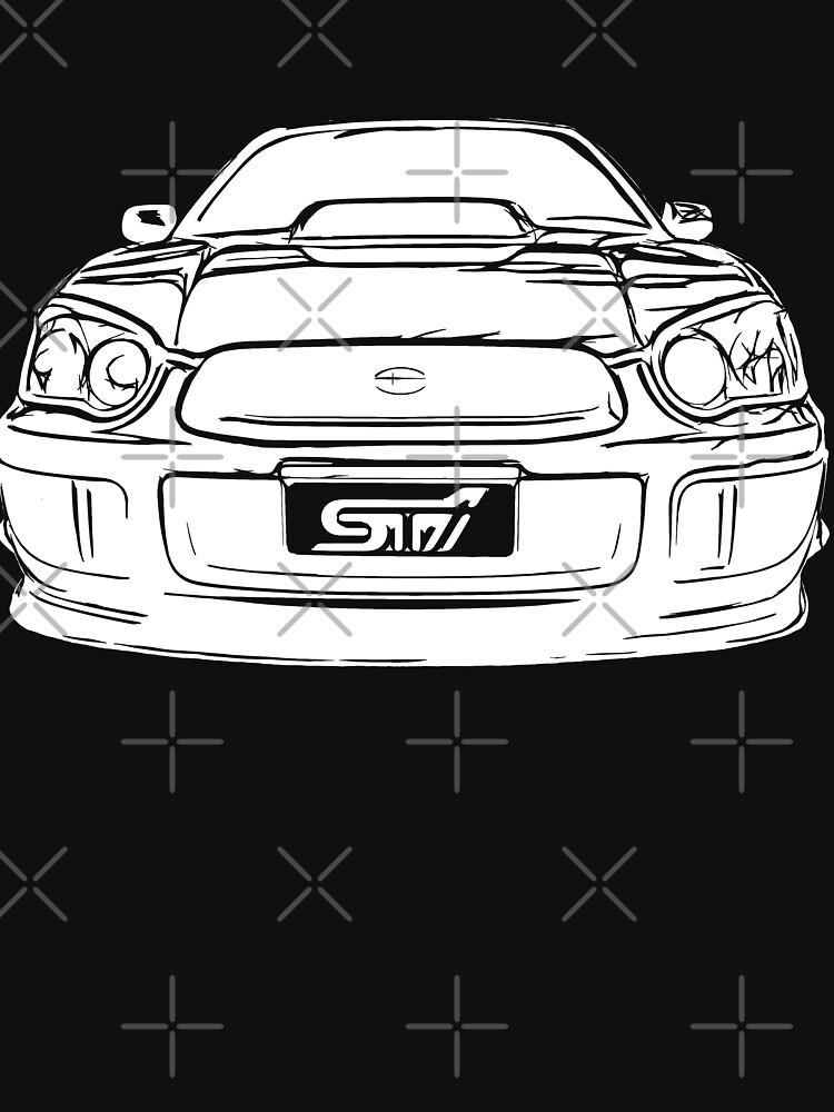 All White Subaru WRX  by Clintpix