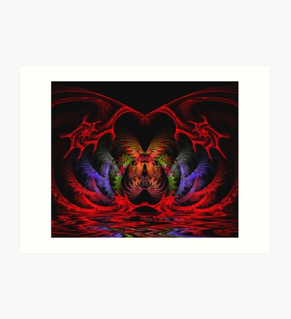 Butterfly Cave Reflections Art Print