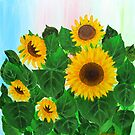 Sunflowers by Lusy Rozumna