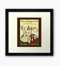Walking Red: A Fine Wine Framed Print