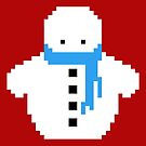 Cute Christmas Pixel Snowman by perdita00