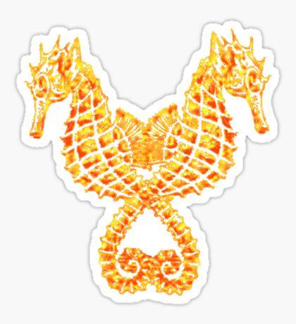 Sea Horses Tribal Tattoo Sticker